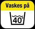 Vaskes på 40°C