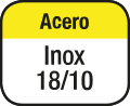 Acero inoxidable 18/10