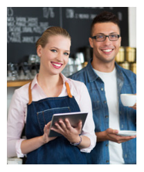 Bild: Kellnerin im Kaffee