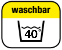 Washable at 40°C