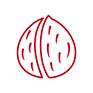 Icon Schalenfrüchte