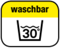 Washable at 30°C